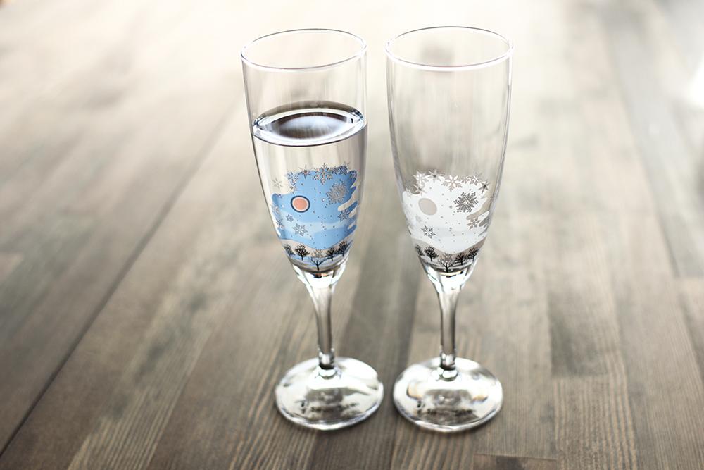 冷感雪結晶/シャンパングラス