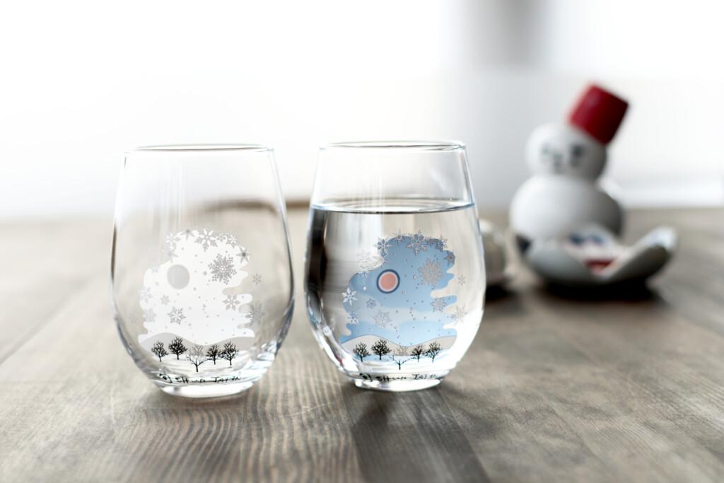 冷感雪結晶/フリーグラス